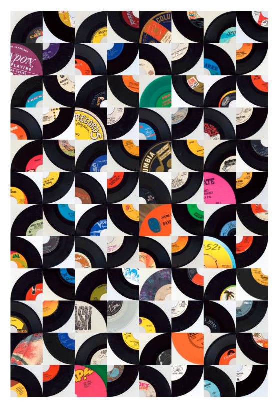 Vinyl Records Wall