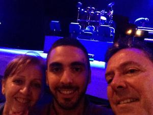 Photo: Isabel (my mom), me and Pablo (my dad) on first row waiting for Yanni