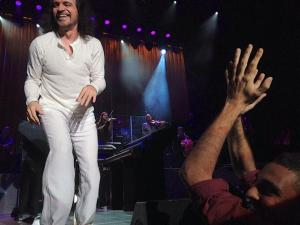 Photo: Yanni and me excited applauding